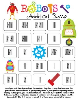 Robots Addition Bump Games