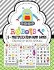 Robots Addition & Multiplication Bump Games Bundle