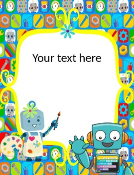 robots binder covers only text editable by educative teaching ideas