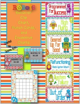 Robots Behavior Pack {Clip Chart, Punch Cards, & Incentive Charts}