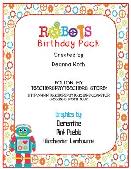 Robots Birthday Pack