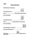 """Robot's Broken Button"" Story Comprehension Worksheet #1"