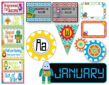 Robots Classroom Decor Pack--Editable