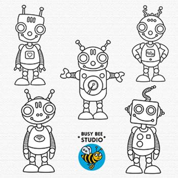 Robots Clip Art