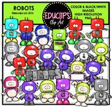 Robots Clip Art Bundle  {Educlips Clipart}