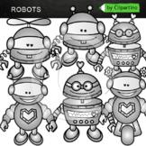 Robots Clip Art Bundle