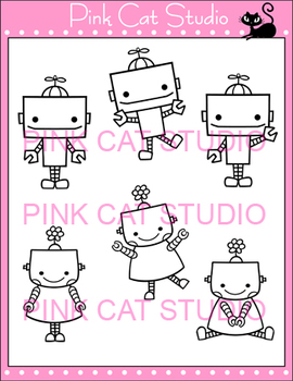 Robots Clip Art - Personal & Commercial Use