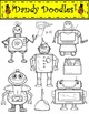 Robots Clip Art by Dandy Doodles