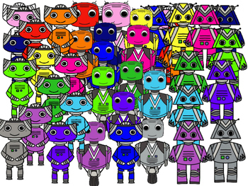 Robots Clipart (Personal & Commercial Use)