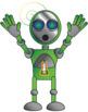 Robots Colorful Clip Art