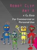 Robots Colorful Clip Art A