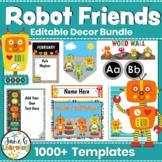 Robots Theme Decor   Robots Theme Classroom Editable Decor Bundle   STEM Decor