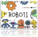 Robots Decor Theme - Editable Bulletin Board and Door Display