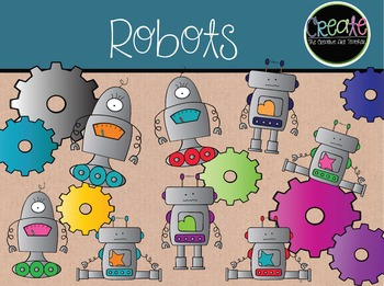 Robots - Digital Clipart