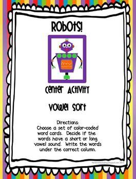 Robots ~ ELA Common Core Activities
