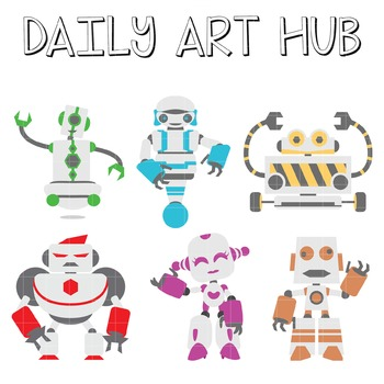 Robots - Great for Art Class Projects!