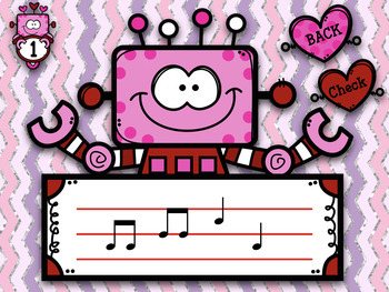 Robots Love Melodies! Stick/Staff Practice Game - do-re-mi
