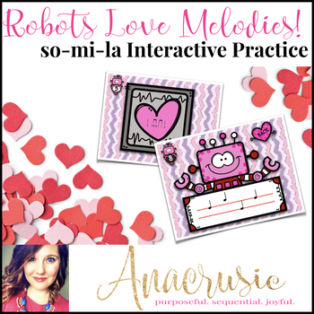 Robots Love Melodies! Stick/Staff Practice Game - so-mi-la