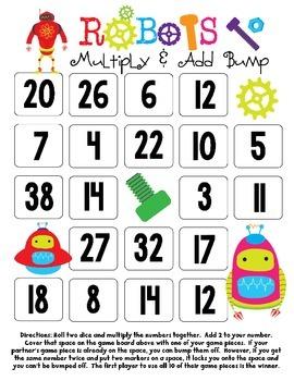 Robots Multiplication Bump Games