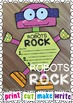Robots Rock Paper Craft Writing Activity