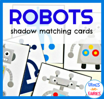 Robots Shadow Matching Cards