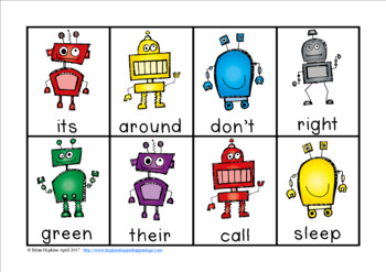 Robots Sight Word Race