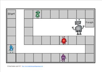 Robots Sight Word Race