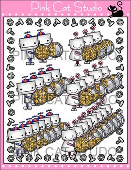 Fractions Clip Art - Robot Theme