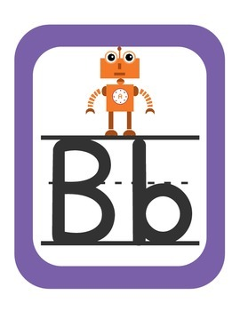 Robots Themed Classroom ABC's
