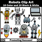 Robots Clip Art, Gears, Computer, Commercial Use SPS