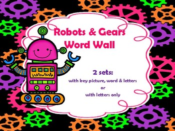 Robots and Gears Word Wall