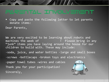 Robots and Machines Activity Packet