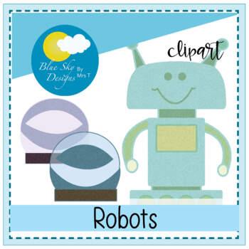 Robots and Mini-bots Clip Art