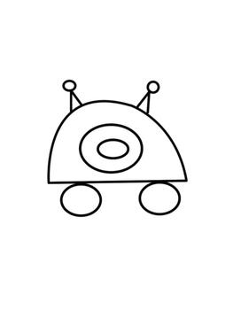 Robots dans l'espace-Leçon d'arts plastiques