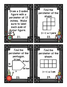 Robots for Area and Perimeter activites