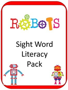 Robot Theme Sight Word ELA CENTER GAMES