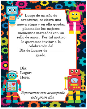 Robots invitation Editable!!!!