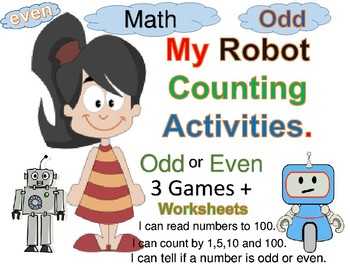 Robots odd and even games and activities
