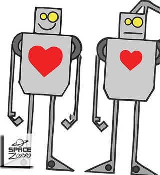 Robots with Heart images / clip art