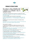 Robust structures WEDO 2.0 worksheet
