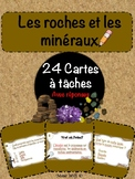 Roches et minéraux - cartes à tâches