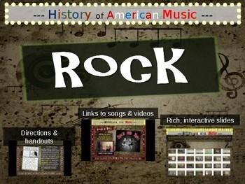 Rock: A comprehensive & engaging Music History PPT (links,