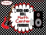 Rock-And-Roll Math Center Freebie