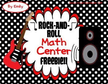 Rock-And-Roll Math Center Freebie