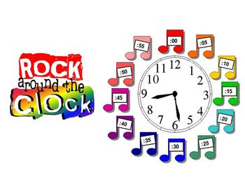 Rock Around the Clock-Clock Labels Kit