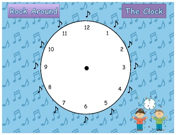 Rock Around the Clock,  Fraction Addition Game Common Core 5.NF.1 and 5.NF.2