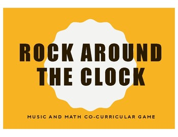 Rock Around the Clock - Music and Math Circle Game