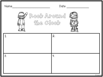 Rock Around the Clock Task Cards {Time to the Quarter Hour}