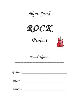 Rock Band: A NY State  (Or Any State!) Geography Project