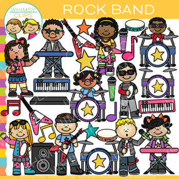 Rock Band Clip Art {Rock Star Clip Art}